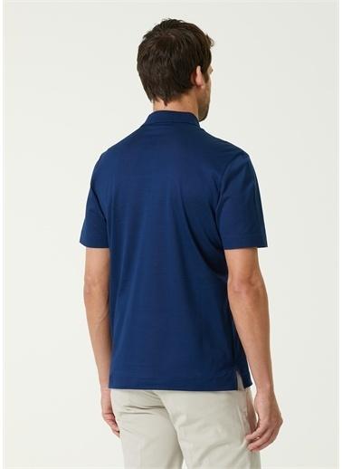 Canali Polo Yaka T-shirt Mavi
